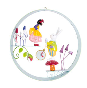Cerceaux scene - French-circle-mobile-Alice and the white rabbit