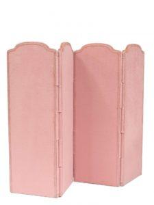 Ritz Paris Auction A four-leaf pink folding screen