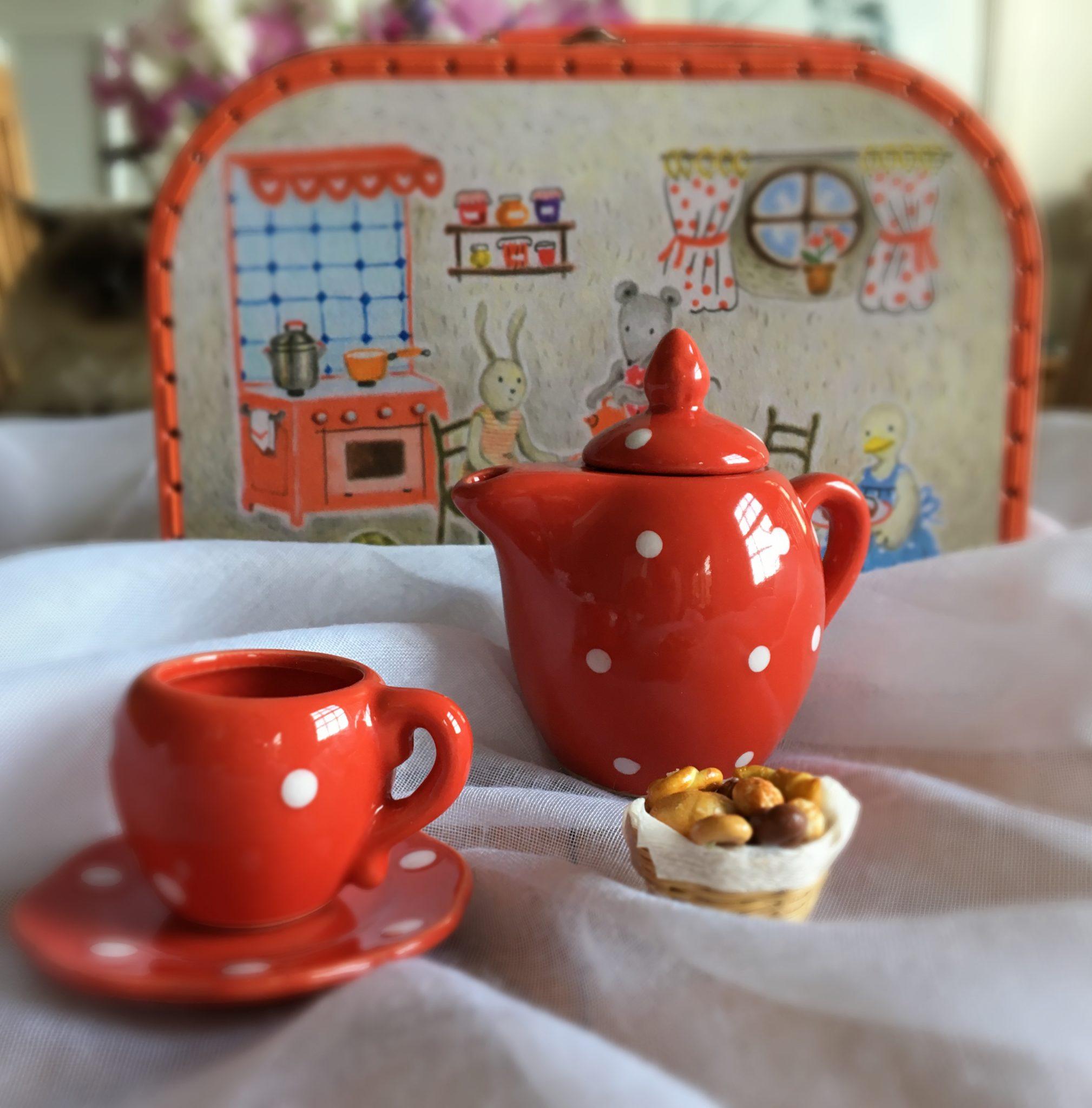 Moulin Roty Little Red Teaset for Children