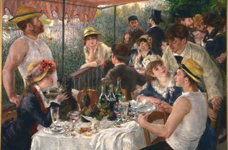 Renoir a Luncheon of the boating party