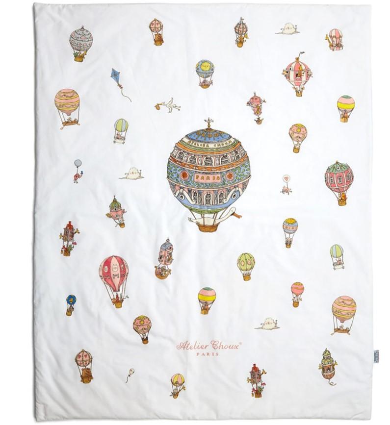 Atelier Choux Paris Reversible Quilt Hot Air Balloon