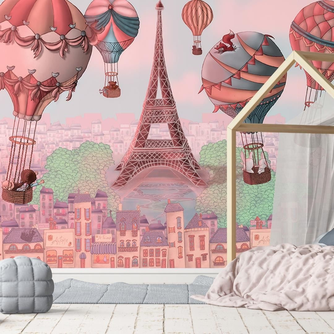 Hot air balloons nursery decor Lily and the Wall