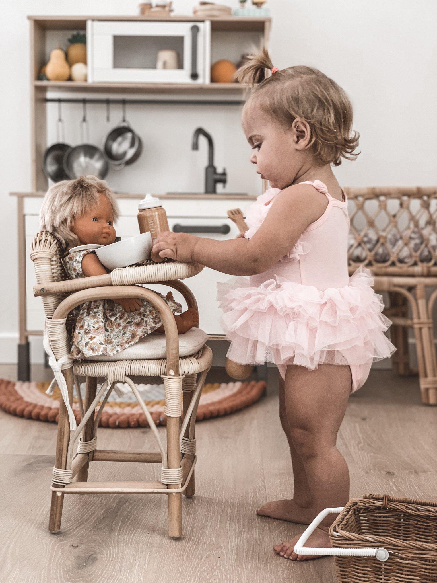 Tiny Harlow Rattan Dolls Bassinet Instyle