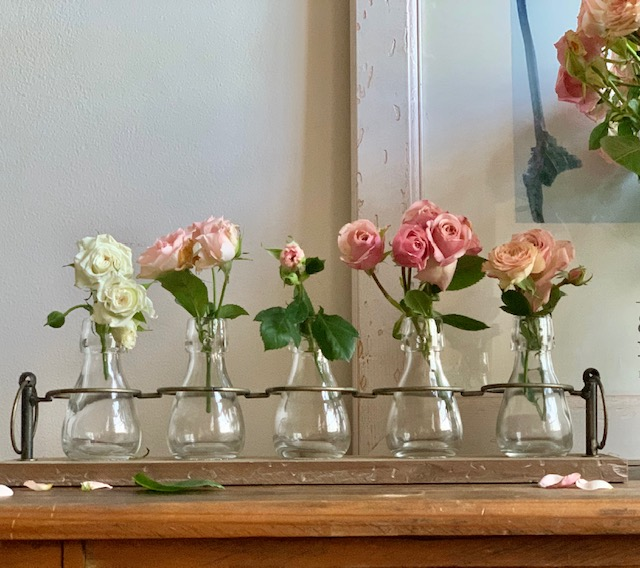 Five Glass Vases