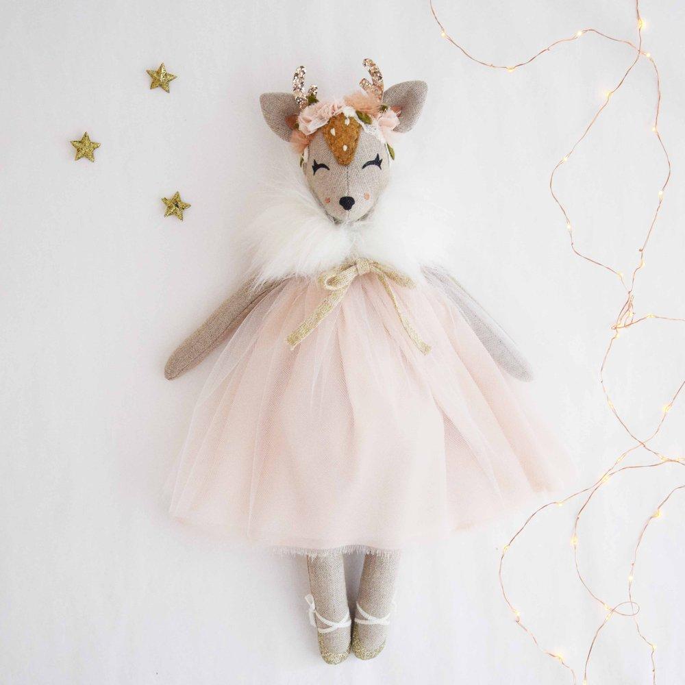 Winter Rose Deer