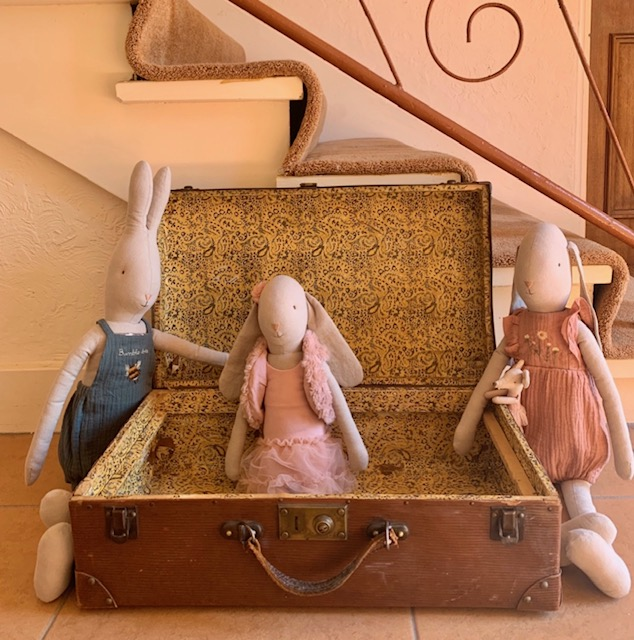 Maileg Tale Bunnies in Brown Suitcase