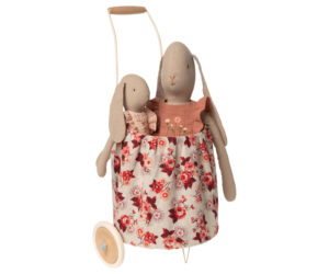Maileg Trolley Roses with Rabbits Little French Heart